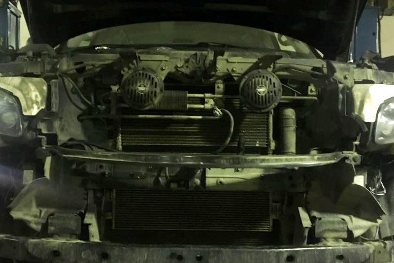dopolnitelnyy-radiator ustanovka na nissan